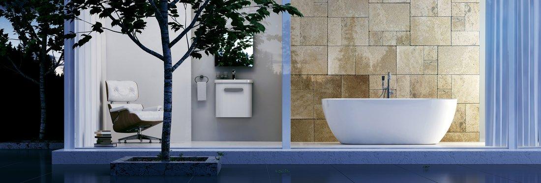A szabadon álló kádak mellett számos lehetőség adódik nagy fürdőszoba esetén. Íme néhány jó ötlet!