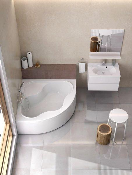 A sarokkádak sok esetben jó megoldásnak bizonyulnak a fürdőben.